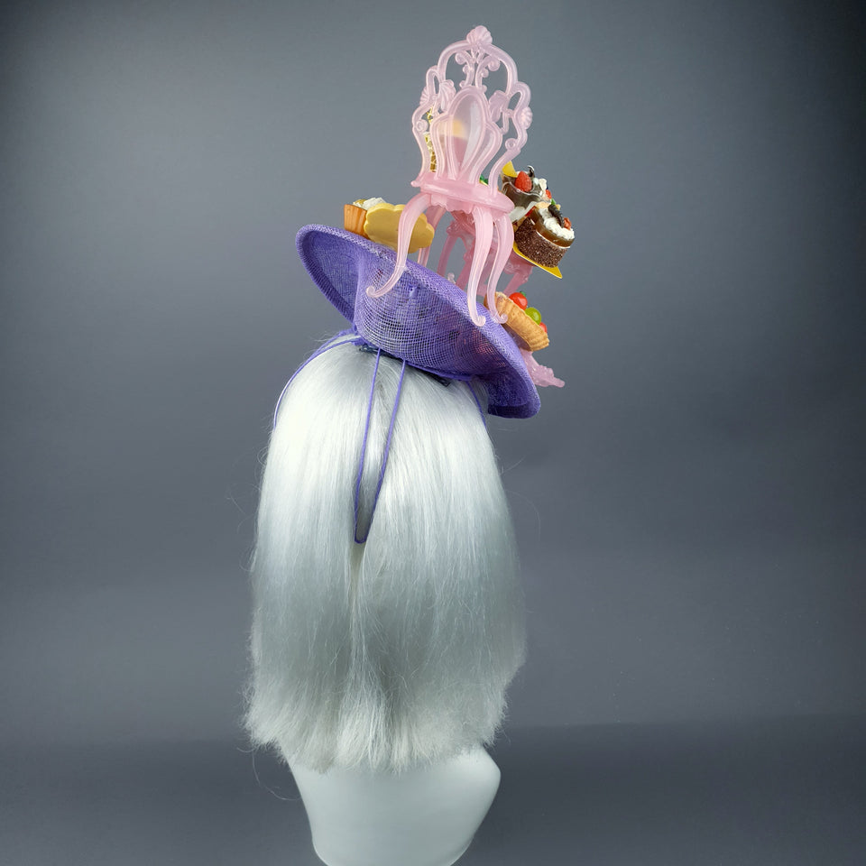 """Frivolité"" Marie Antoinette Inspired Cake Party Fascinator Hat"