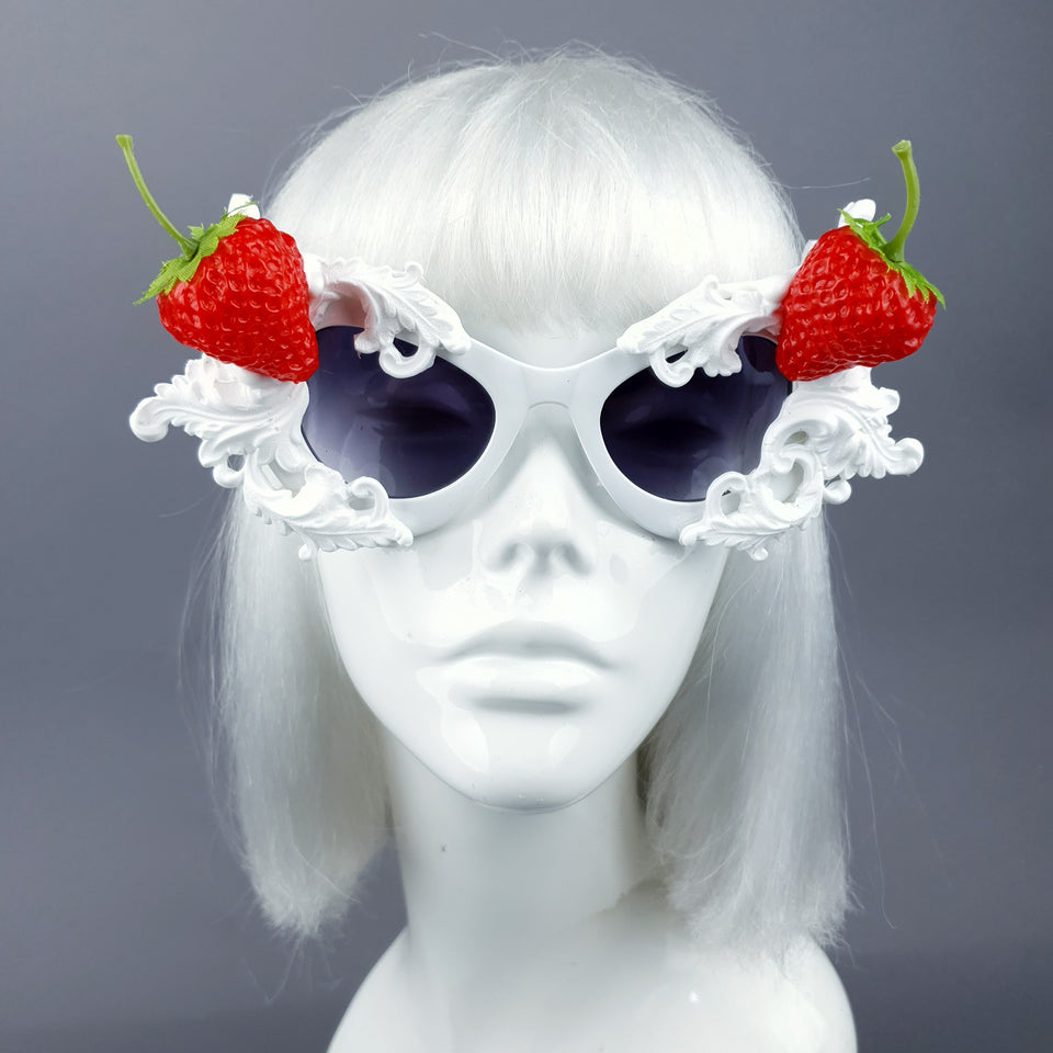"""Sahne"" Strawberries & Cream Filigree Sunglasses"