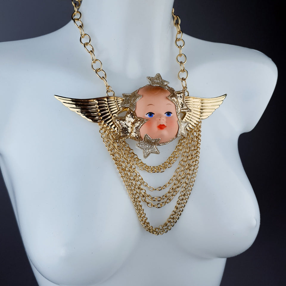 """Sanctus"" Cherub DollFace Necklace"