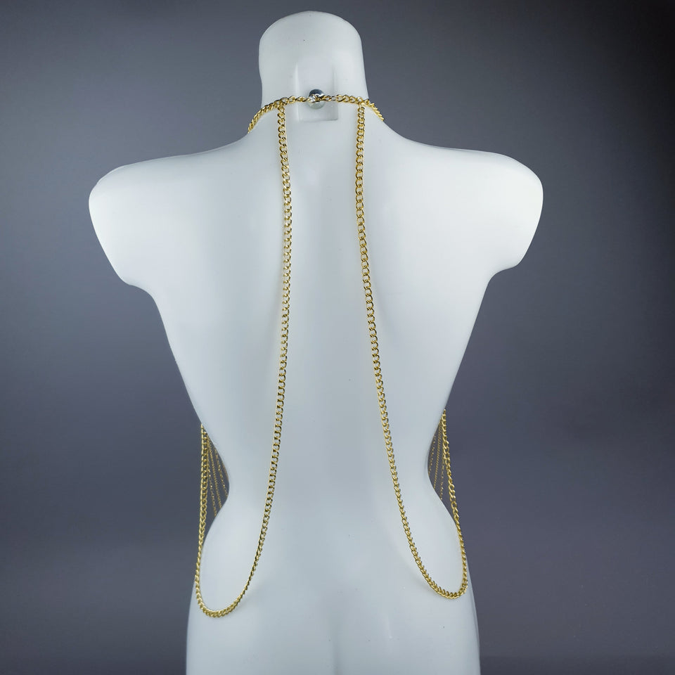 """Ianira"" Gold Filigree & Pearl Body Jewellery"