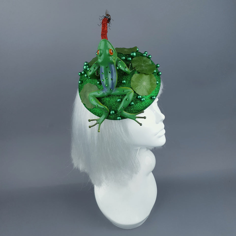 """Prince Charming"" Frog & Fly Fascinator Hat"