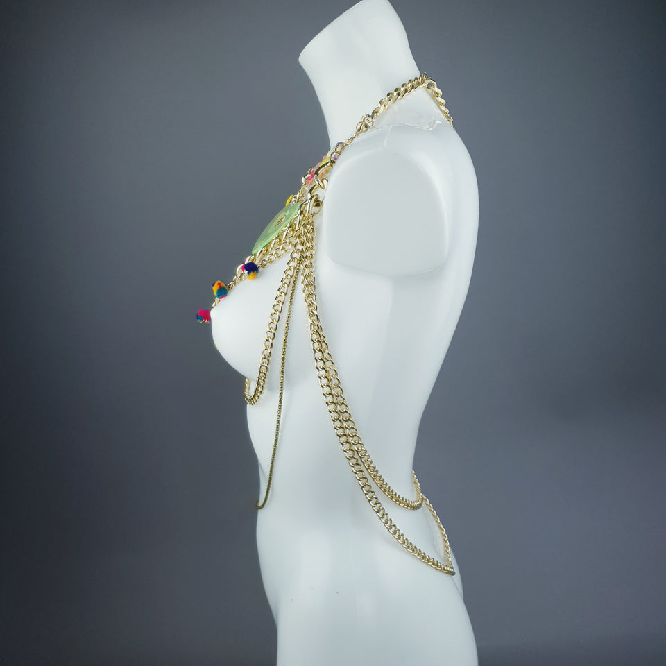 """Cera"" Colourful Upcycled Body Jewellery"