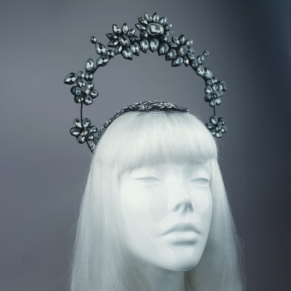 """El Cielo"" Black Jewel Halo Headdress"