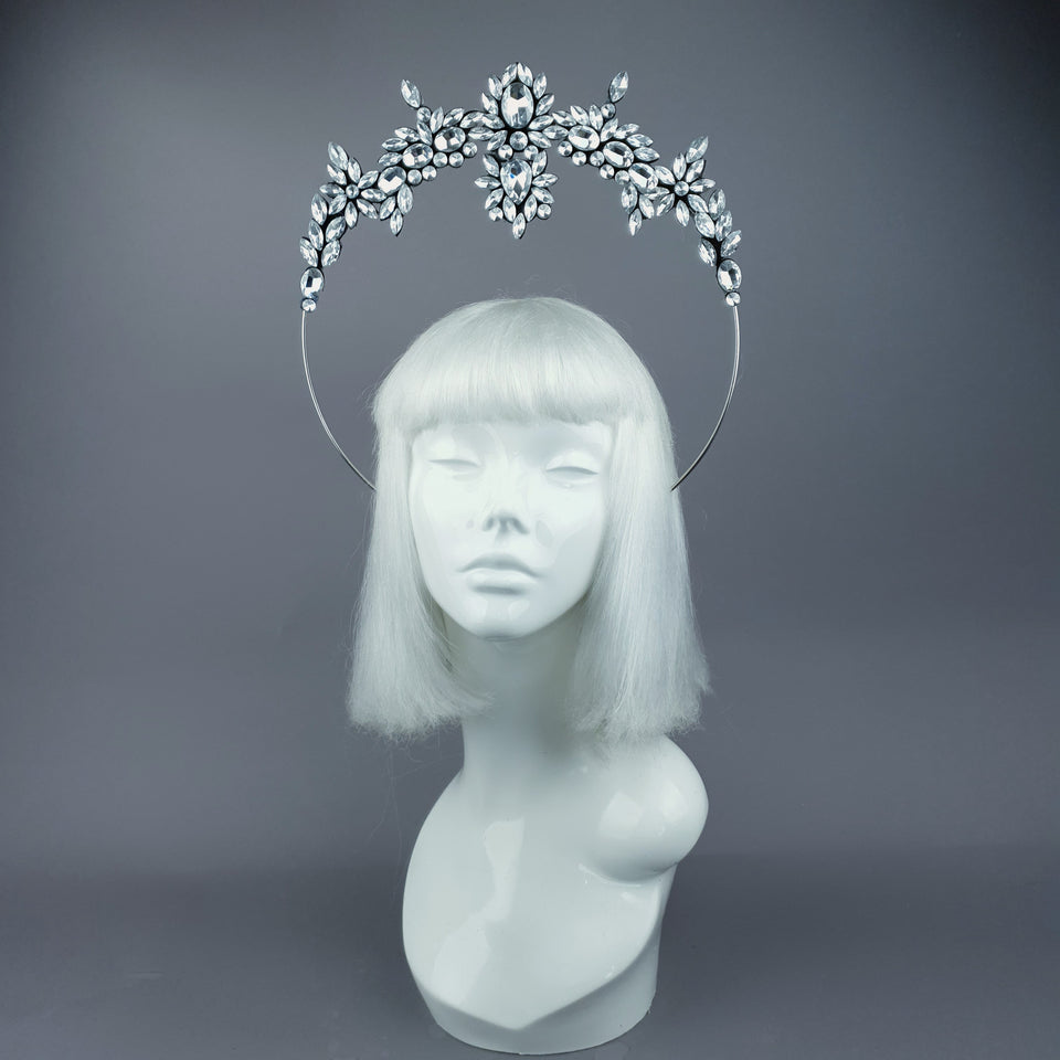 Silver Diamante Jewel Halo 15