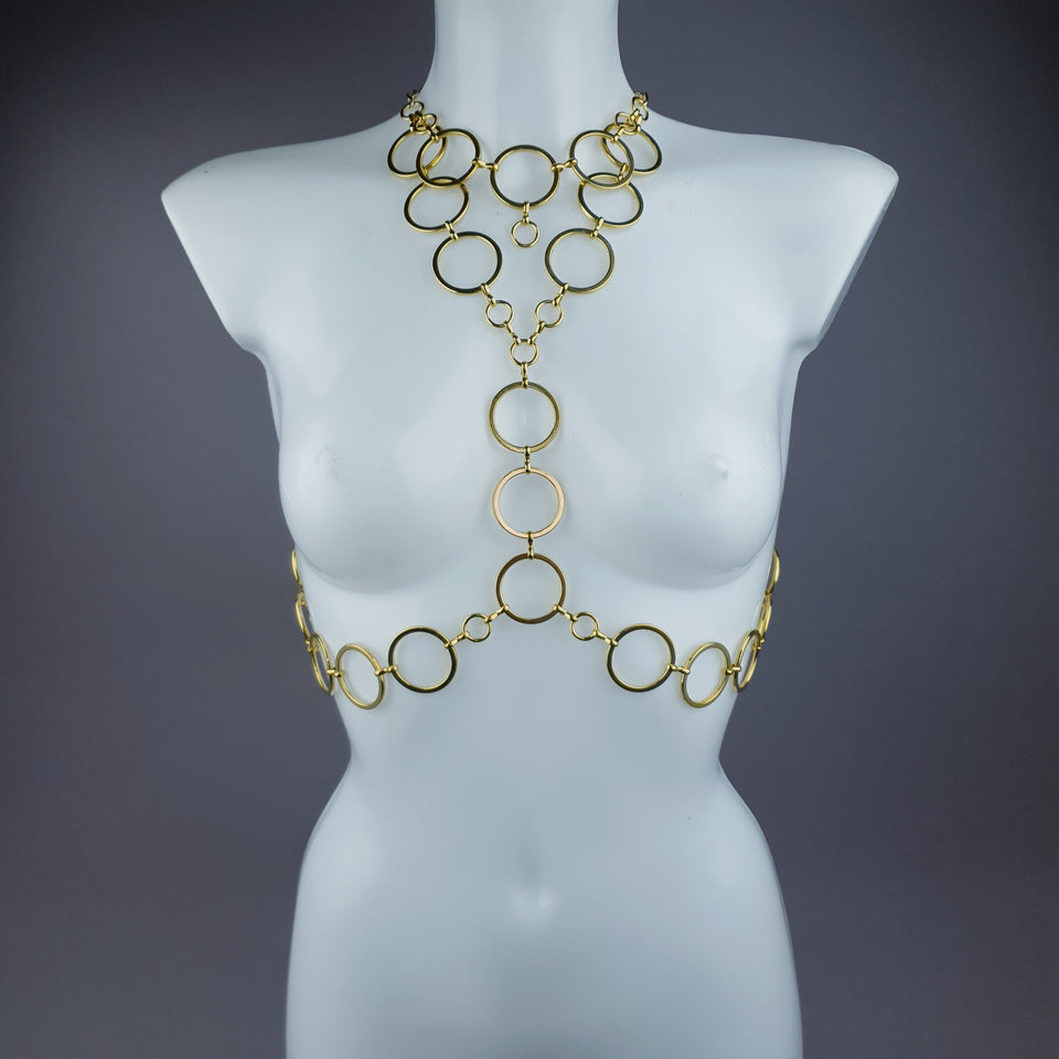 """Sapphira"" Gold Jewellery Harness"
