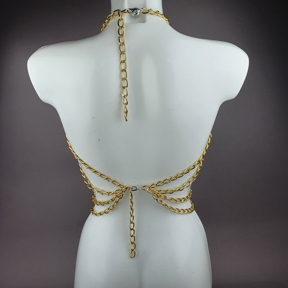 """Aspasia"" Gold Chain Jewellery Harness"