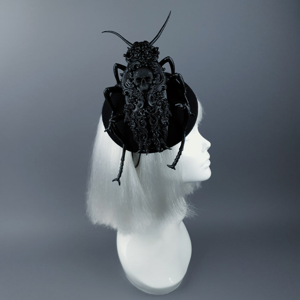 """Ochicha"" Giant Filigree Cockroach Fascinator Hat"