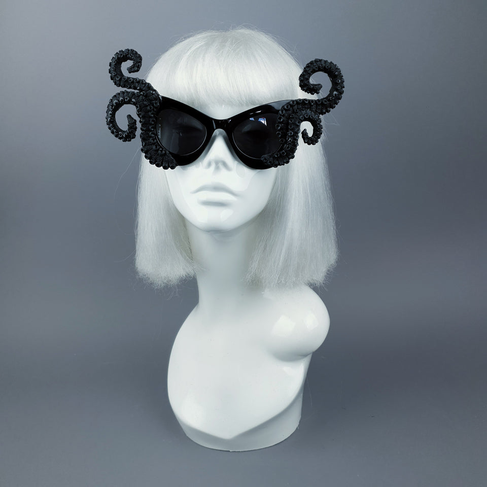 """Ursula"" Black Octopus Kraken Tentacle Sunglasses"