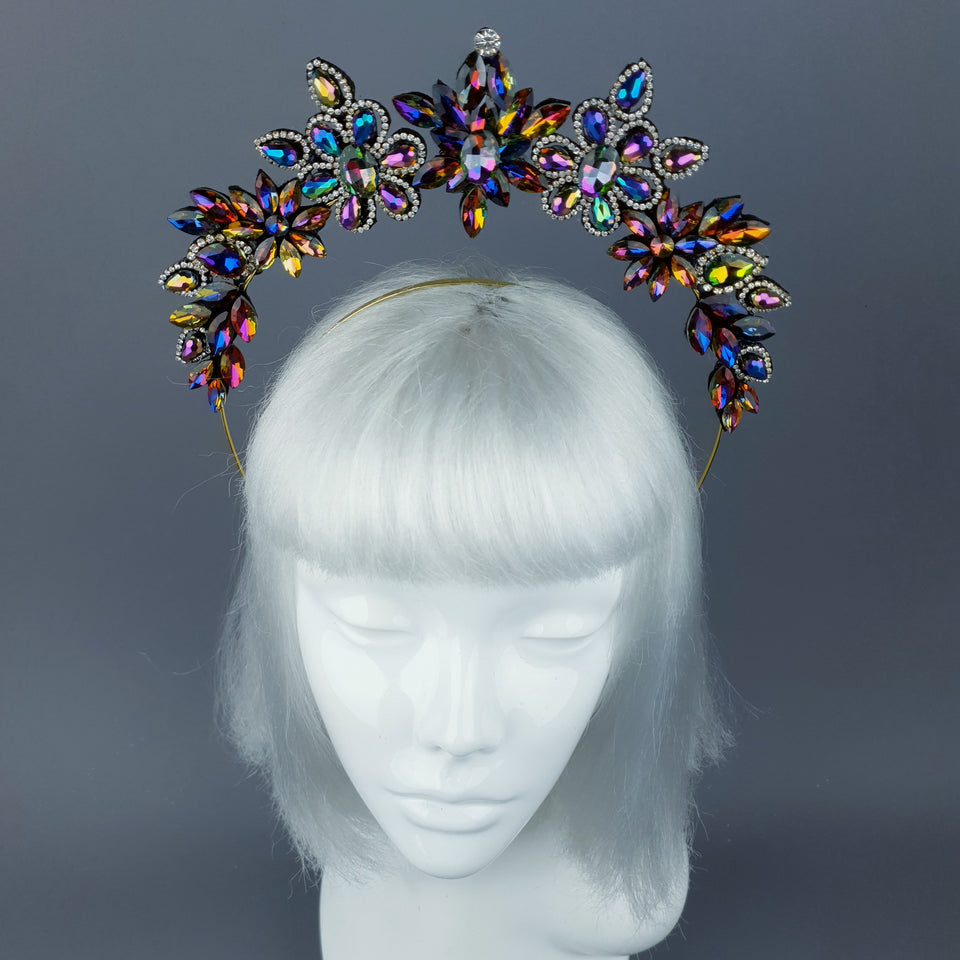 Colourful Diamante Jewel Halo 43