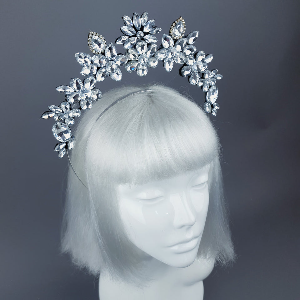 Clear/Silver Diamante Jewel Halo 49