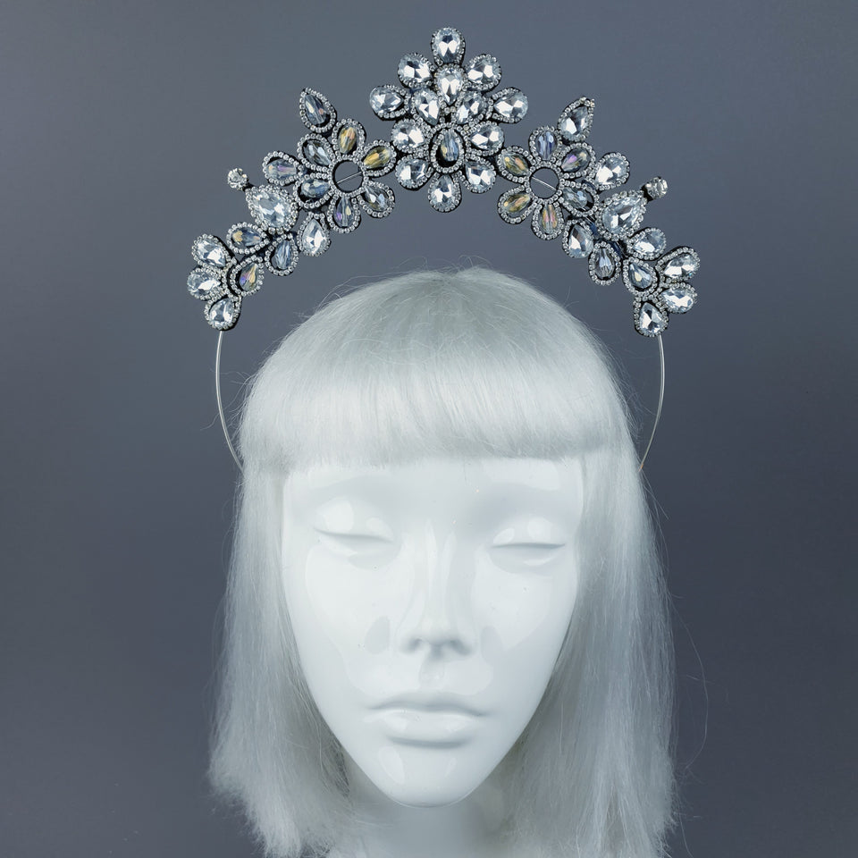 Clear/silver Diamante Jewel Halo 64