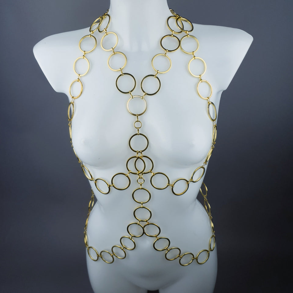 """Sogo"" Gold Ring Jewellery Harness"