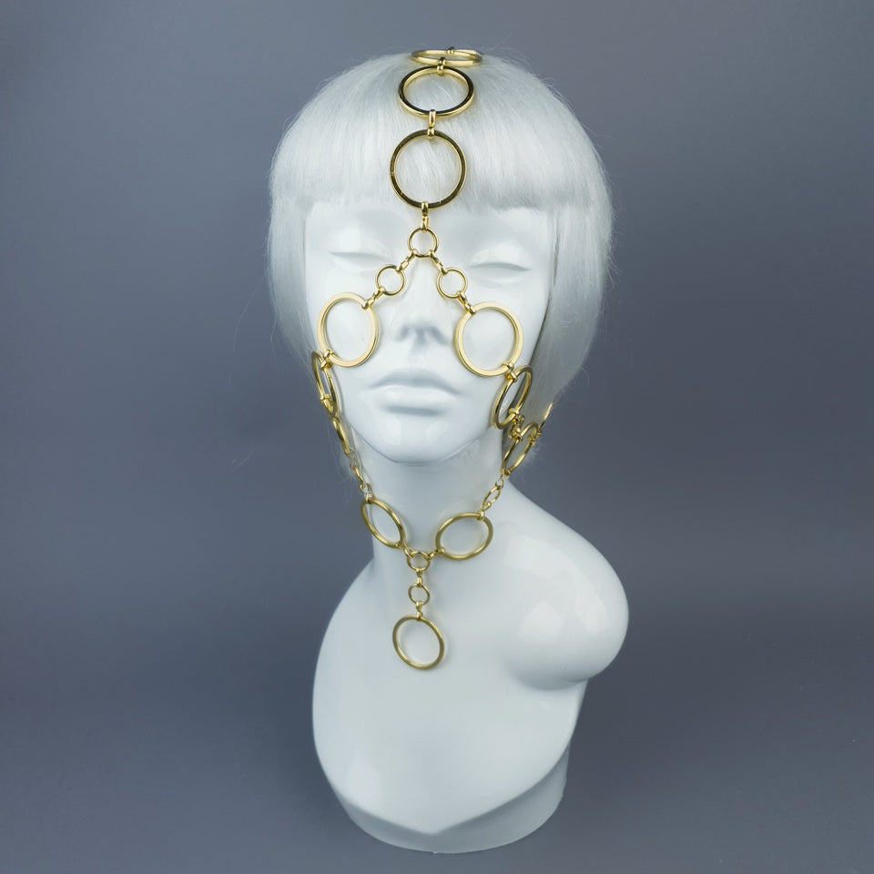 """Salome"" Gold Chain Headpiece"