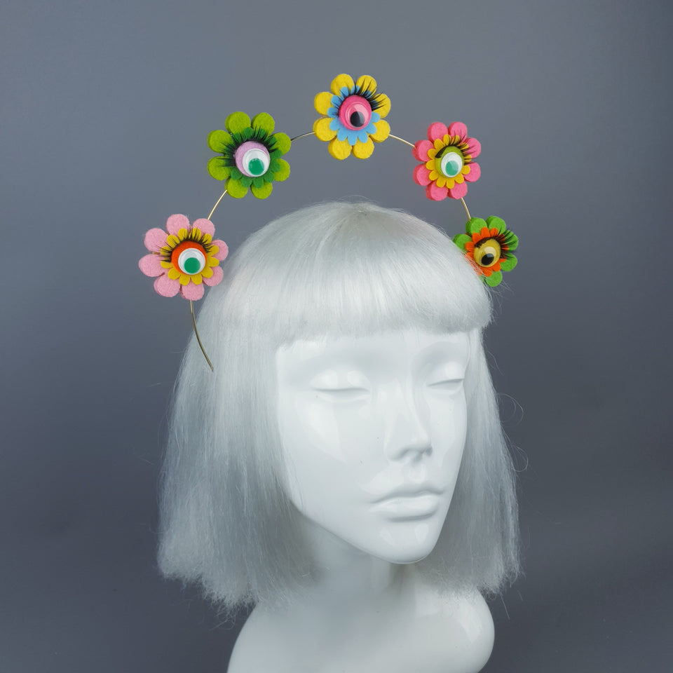 Colourful Flower & Eyes Halo Headpiece