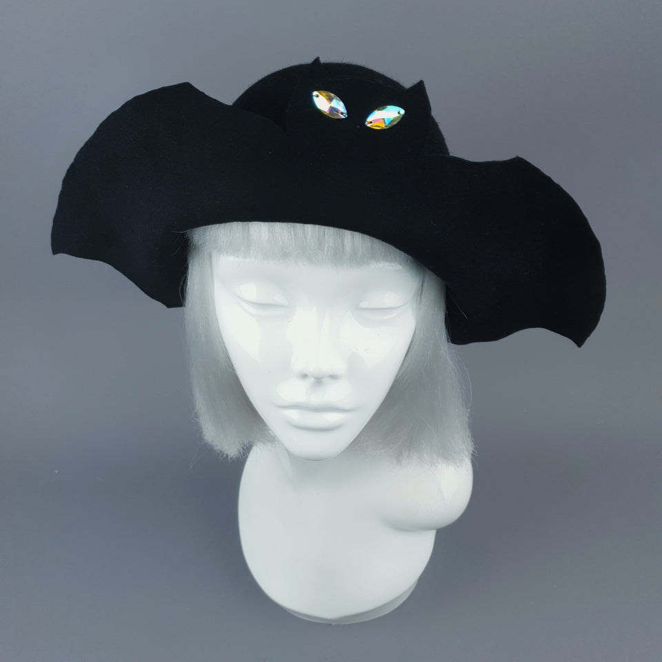 """Gotham"" Black Bat Hat"