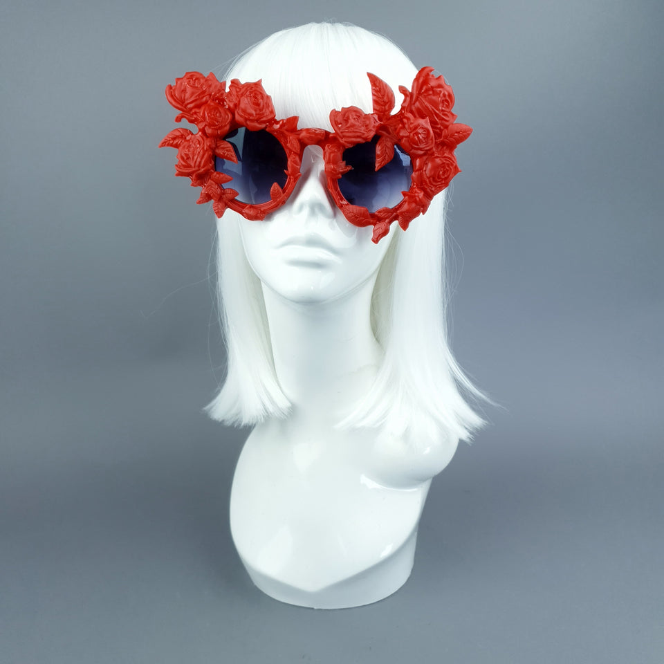 """Amour Sombre"" Red Roses Sunglasses"