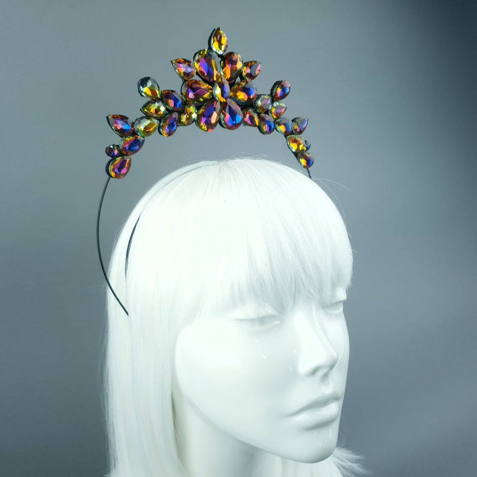 Irridescent Diamante Jewel Halo 75