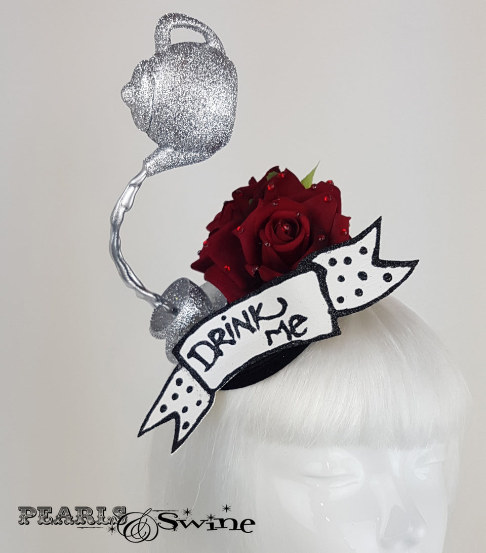 Mad Hatters Tea Party Fascinator, alice in wonderland headpiece
