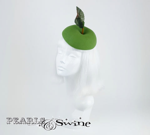 Green apple satin lined hat
