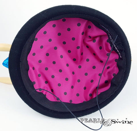 Pink polka dot Doll face hat
