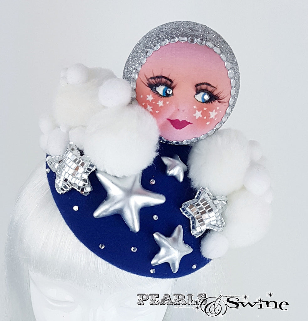 One of a kind doll face moon hat