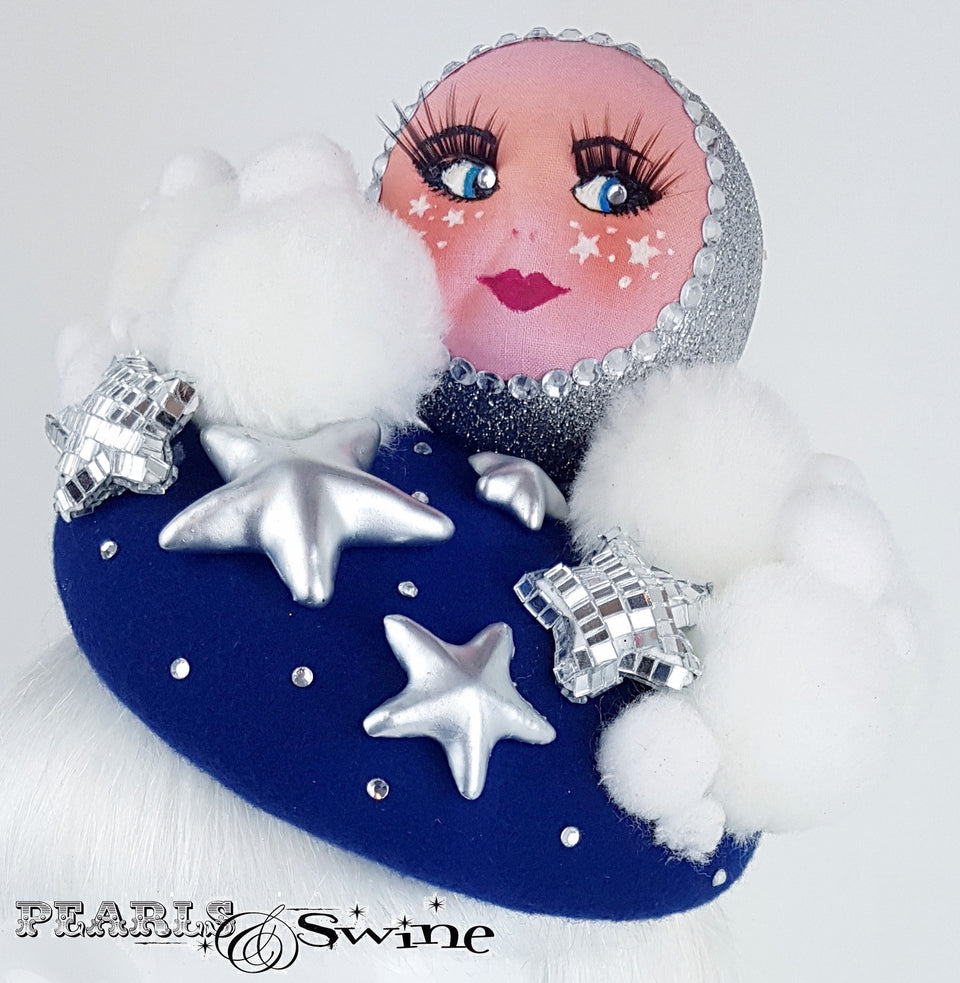 unique doll face night sky hat