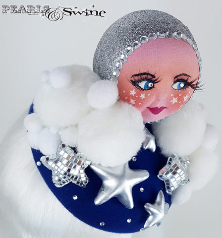 Moon and stars doll face hat