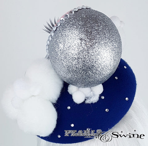 glittering moon and stars doll face hat