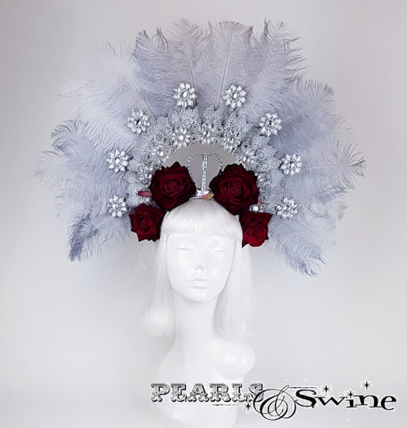 Stunning Ostrich Feather Crown hat