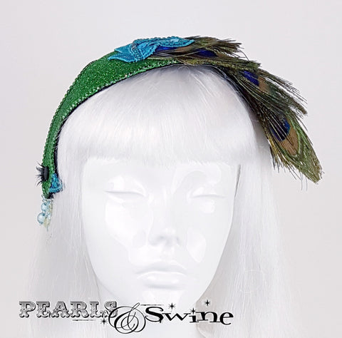 Sparkling Peacock fascinator