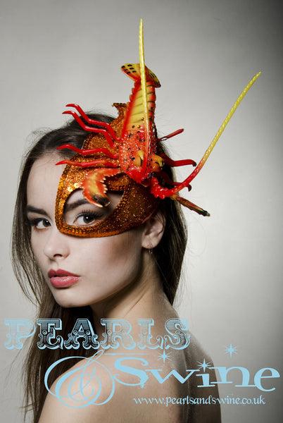 Lobster Half Mask Fascinator Quot Outr 233 Quot Pearlsandswine