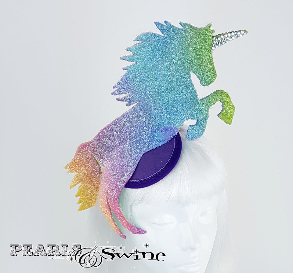 "Rainbow Unicorn Glitter Hat ""Myth"""