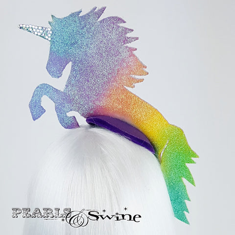 Sparkling rainbow unicorn hat