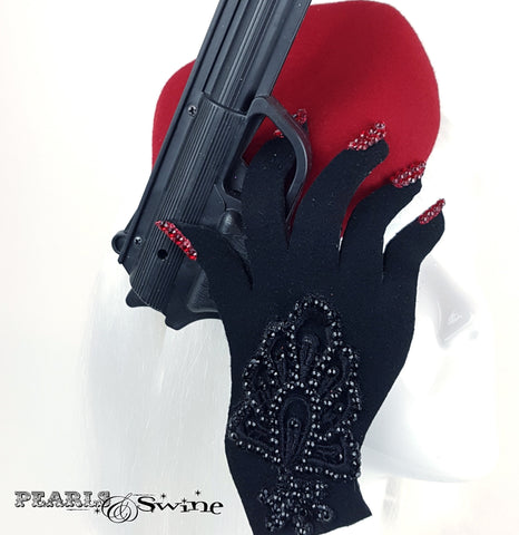 Gloved trigger finger hand hat