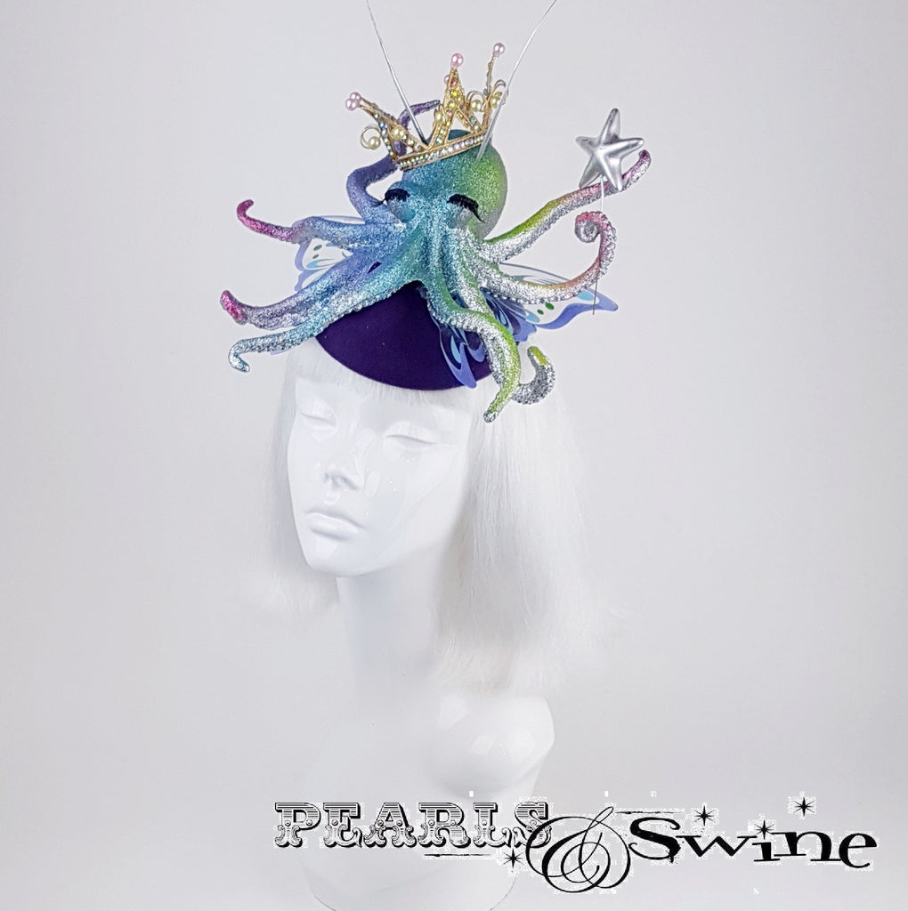 "Rainbow Fairy Princess Octopus Hat ""Octavia's Star"""