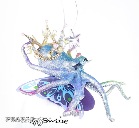 Rainbow fairy princess octopus hat
