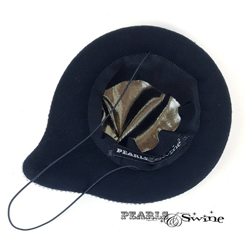 Satin lined quirky speech bubble hat
