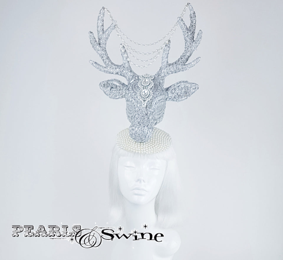 Unique Jewel encrusted stag hat