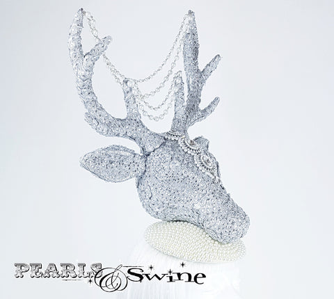 Jewel encrusted stag hat