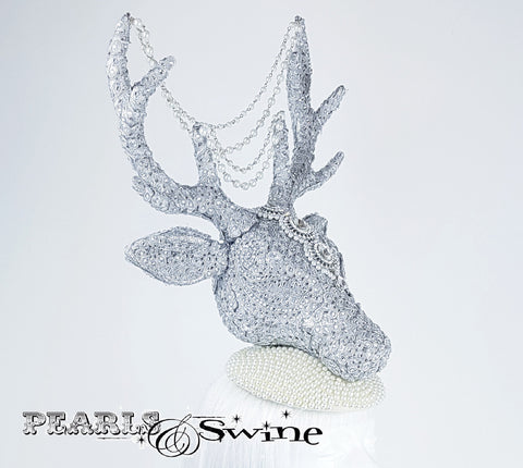 Glittering stylish bejewelled stag hat