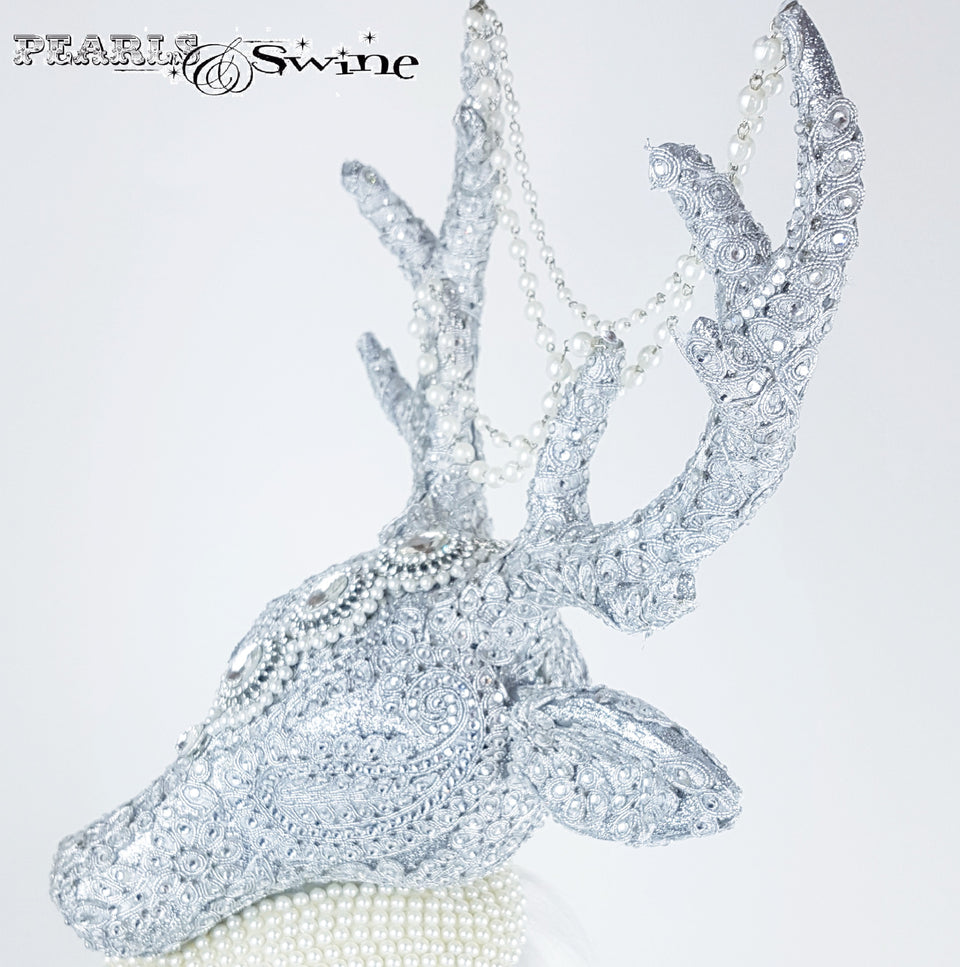 Bejewelled stag hat