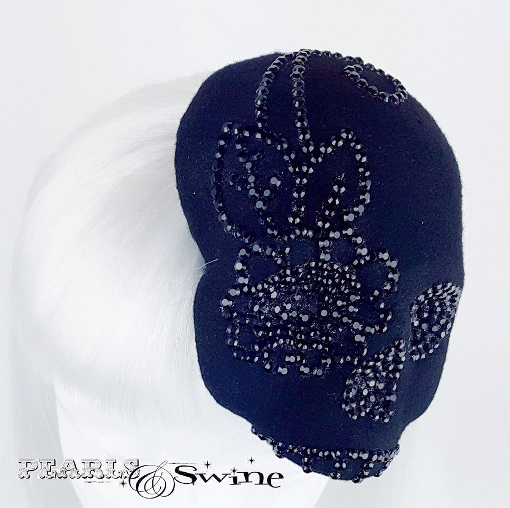 Black Crystal Skull hat