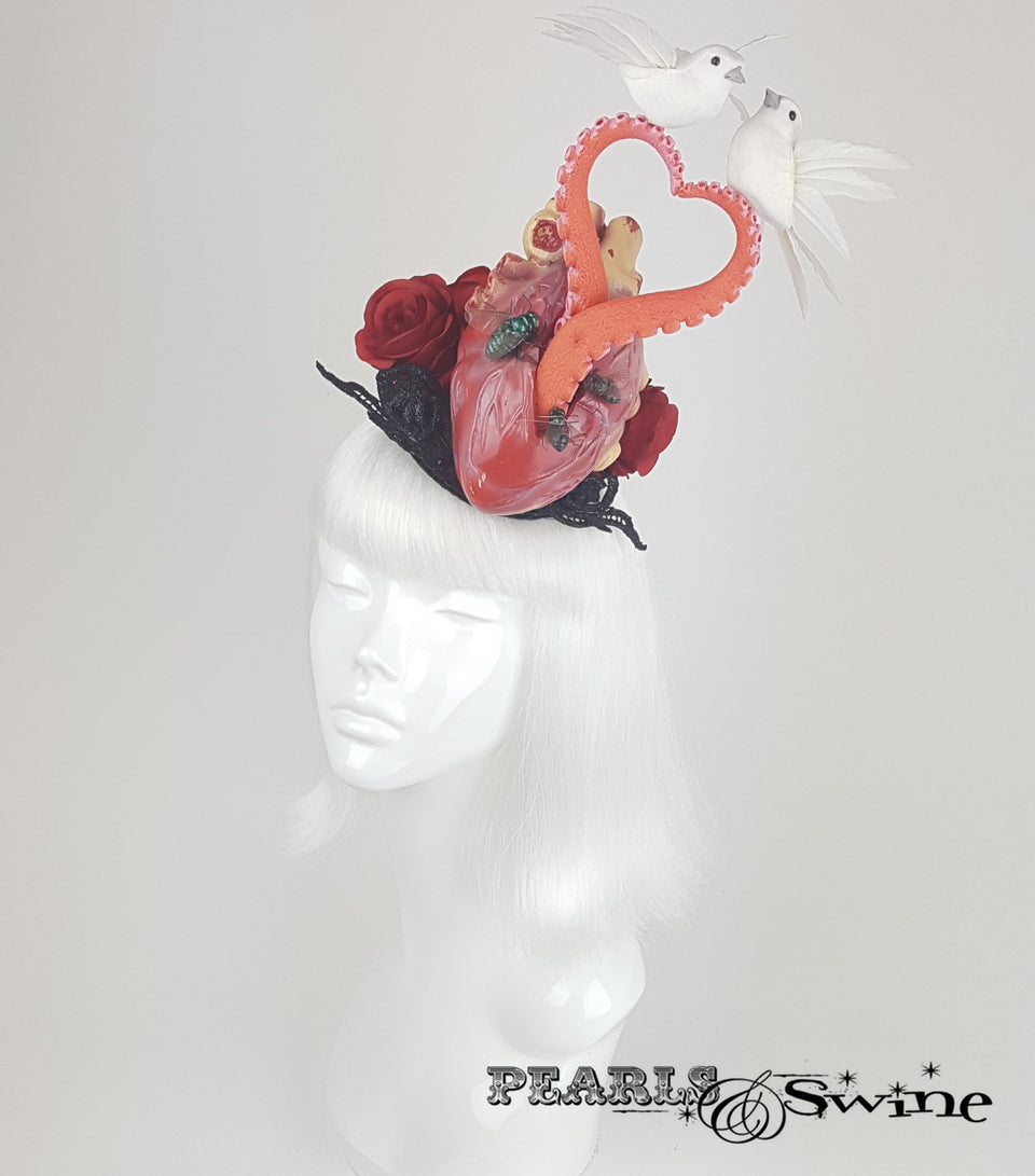 Anatomical Heart Tentacle Hat, Halloween fascinators for Sale UK