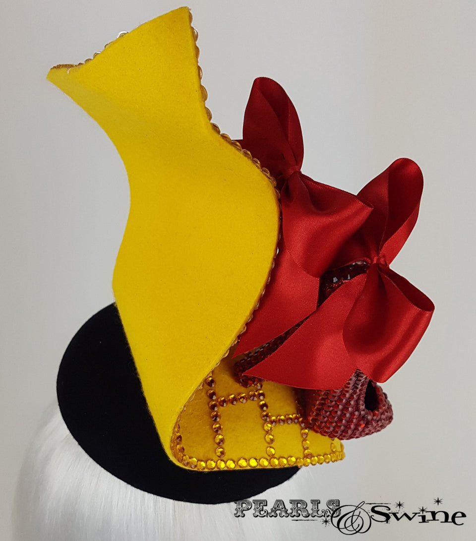 Wizard of Oz Ruby Slippers Hat, unique headpieces UK