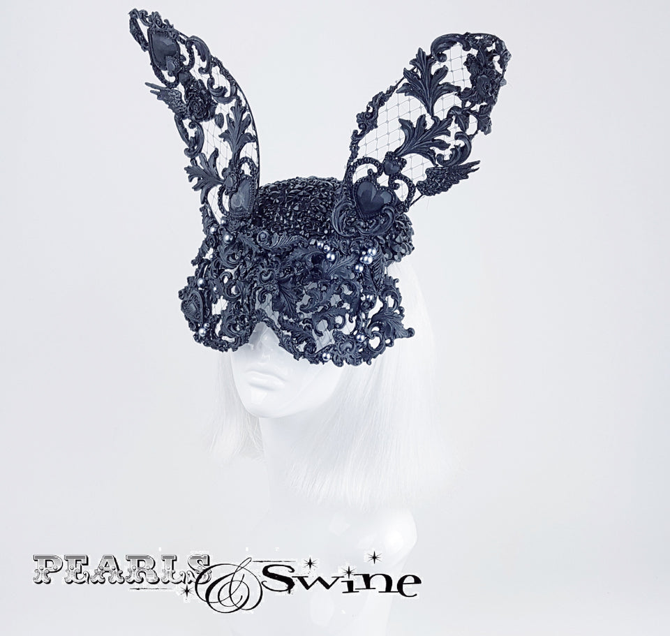 Jewel encrusted rabbit hat