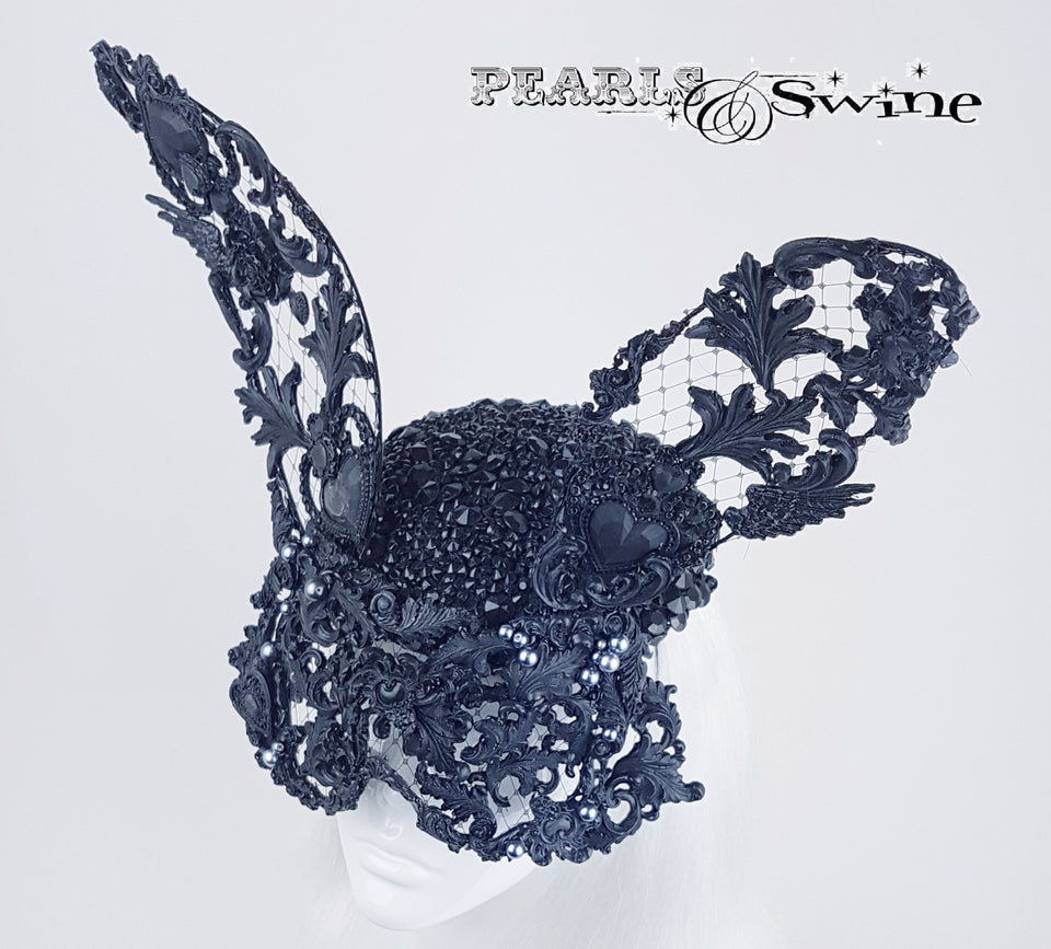 Rabbit mask lace hat