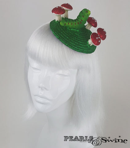 caterpillar & mushroom fascinator for sale UK