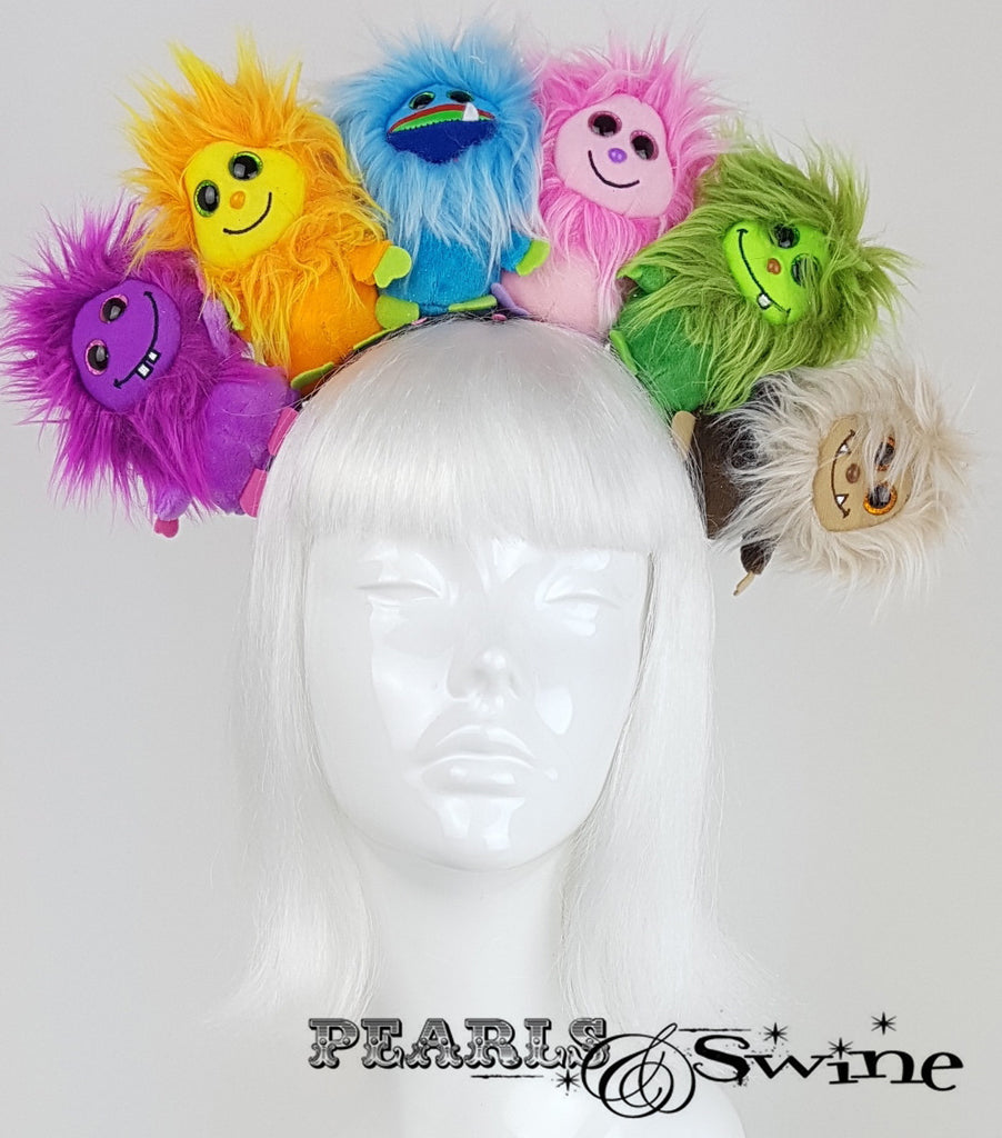 Fluffy Colourful Monster Headdress Hats for Sale UK