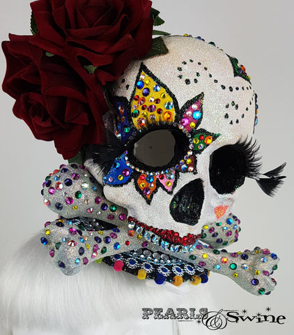 Day of the Dead Sugar Skull quirky Fascinator