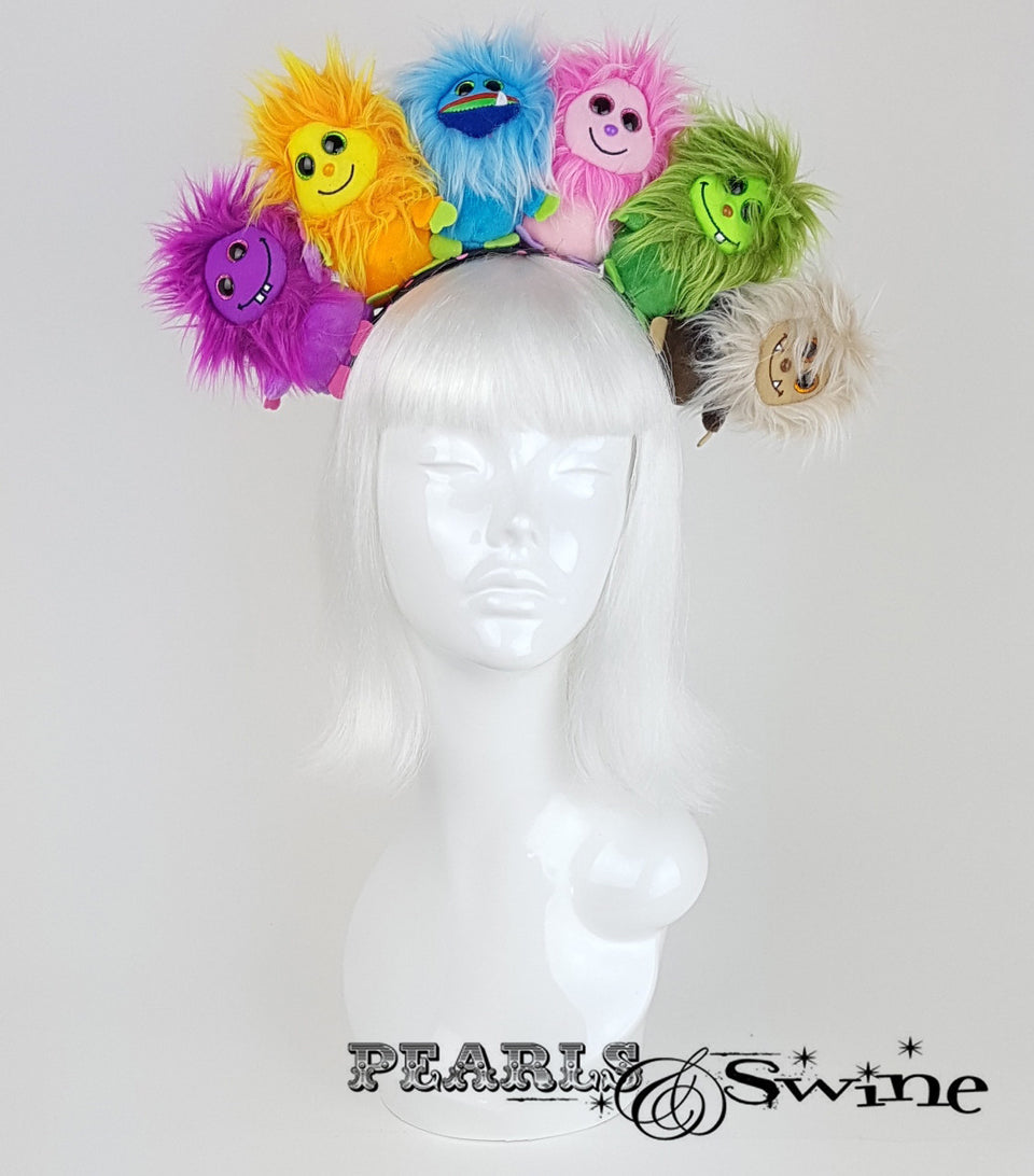 Fluffy Colourful Monster Headdress UK